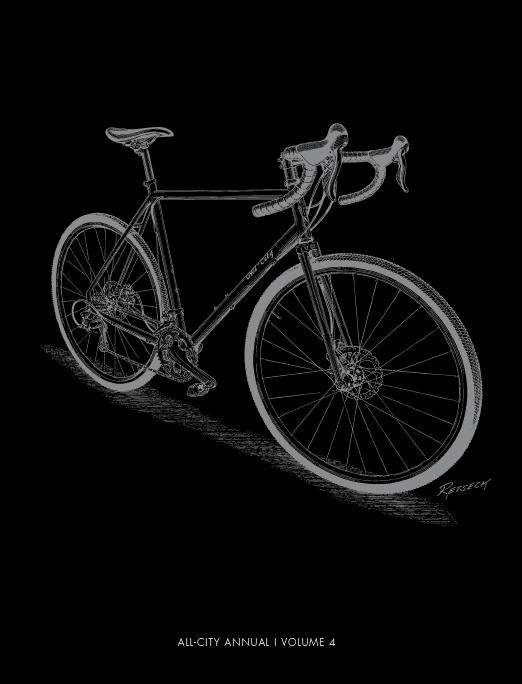 Black and white All-City Annual Volume 4 bike