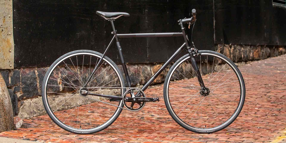 Gray and black All-City Cycles Big Block bike side view