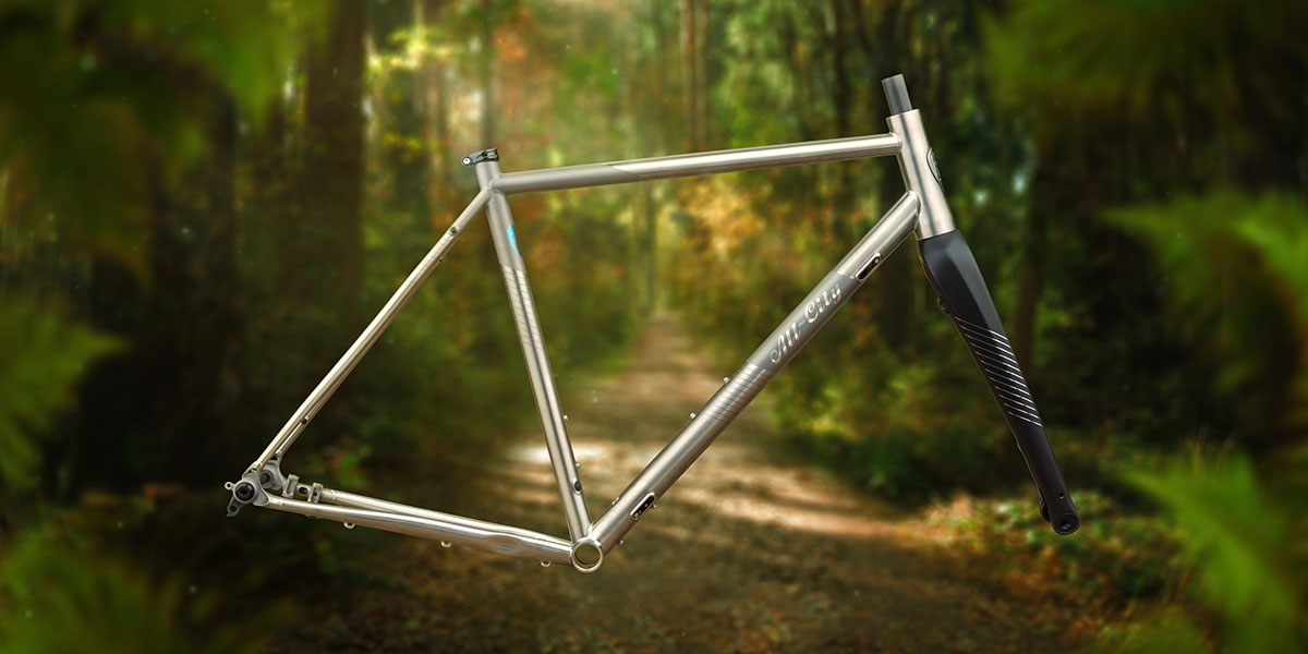 All-City Cosmic Stallion Titanium Frameset with carbon fork, side view