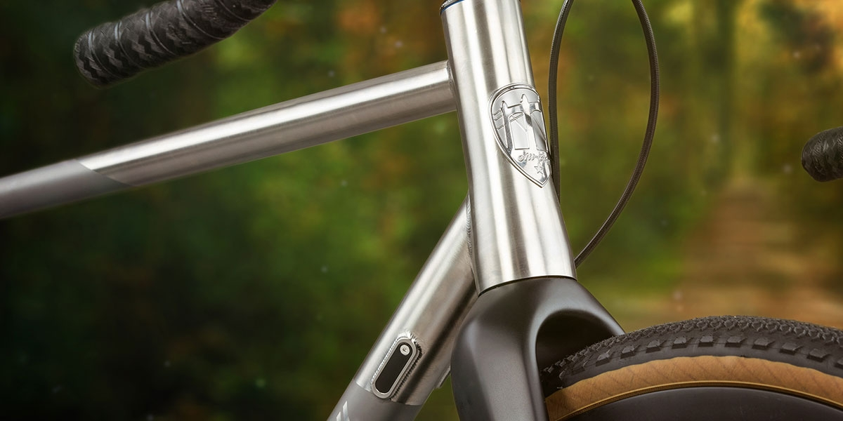 All-City Cosmic Stallion Titanium Frameset headtube detail