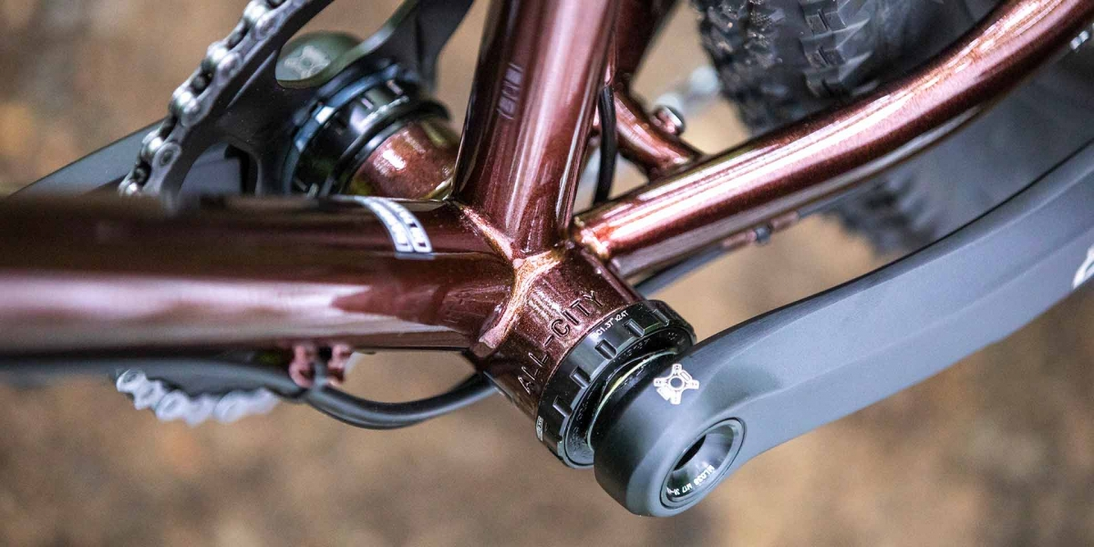 Copper All-City Cycles Gorilla Monsoon Adventure bike frame view