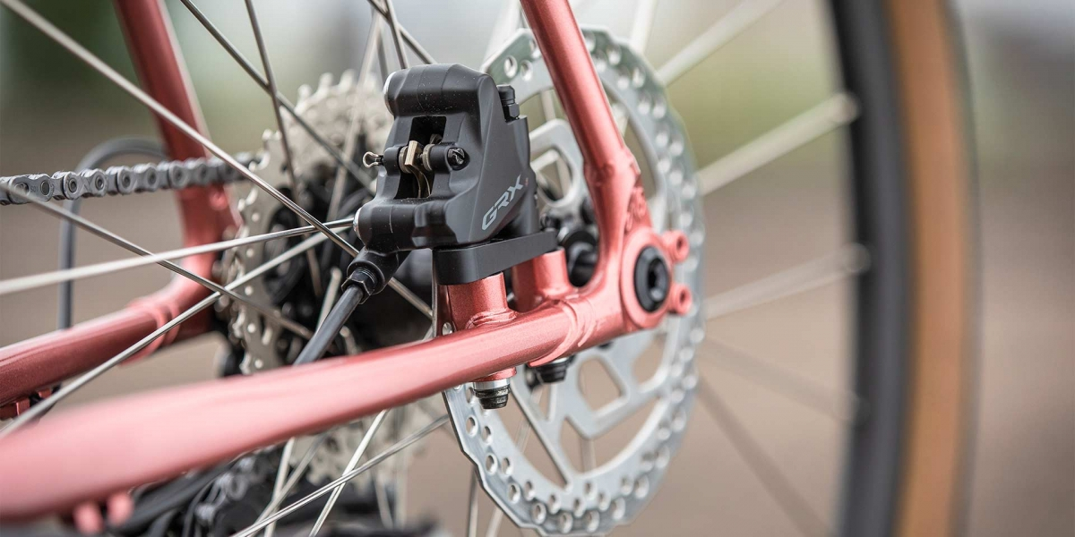All-City Cycles Space Horse Pink Road Touring Bike gear and wheel view