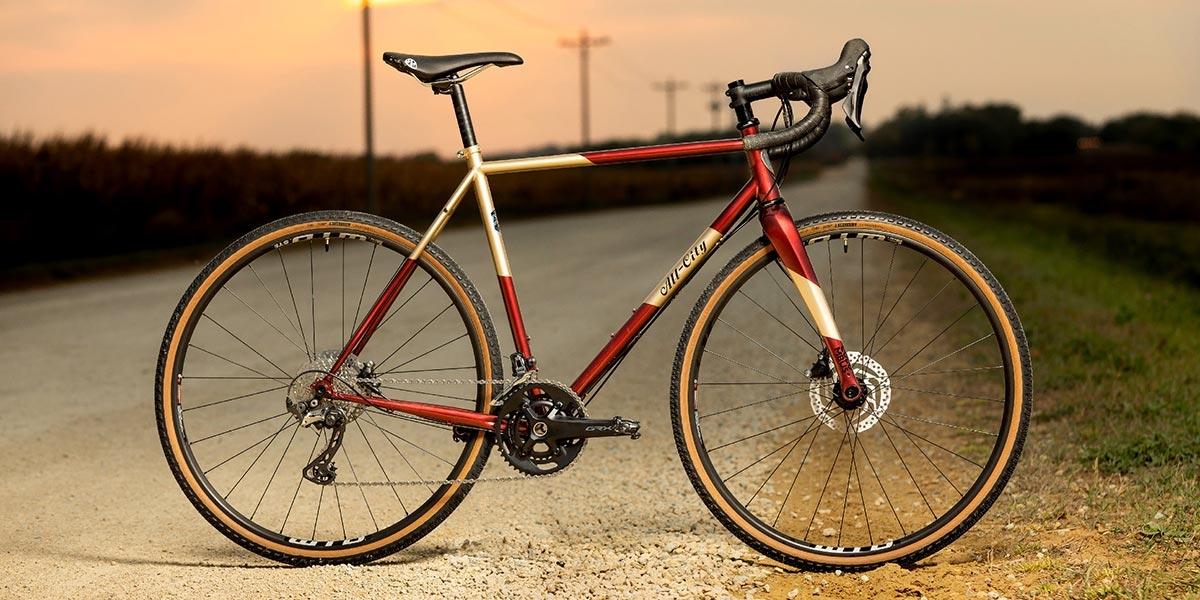 Cosmic Stallion complete bike side view on gravel road