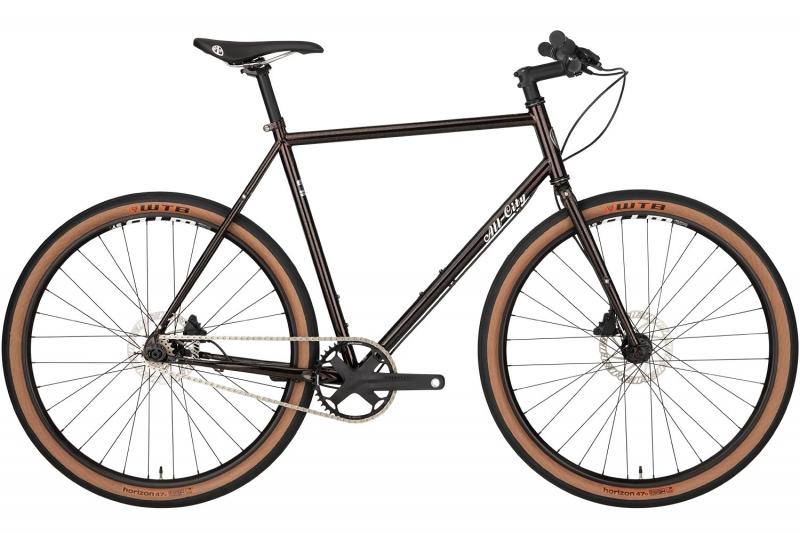 Black All-City Super Professional Singlespeed full bike on white background