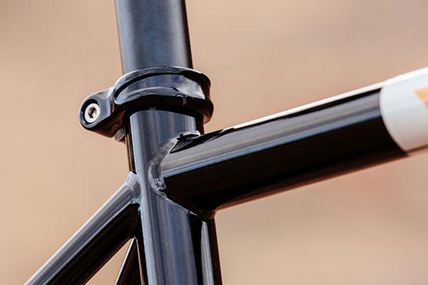 Detail of complete Gorilla Monsoon bike showing Shot Collar close-up