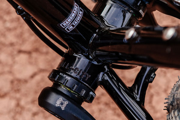 Gorilla Monsoon detail of All-City stamped in on bottom bracket shell