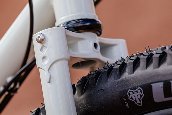 Close-up of Gorilla Monsoon fork crown showing detail