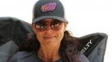 Saisha Harris with base ball cap