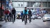 Saisha Harris racing on road with All-City bike