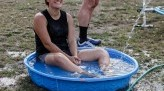 Jenny Carmichael in child pool