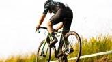 Koshi racing his cyclocross bike in the mud