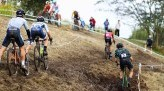 Koshi racing navigating a tricky muddy side slope