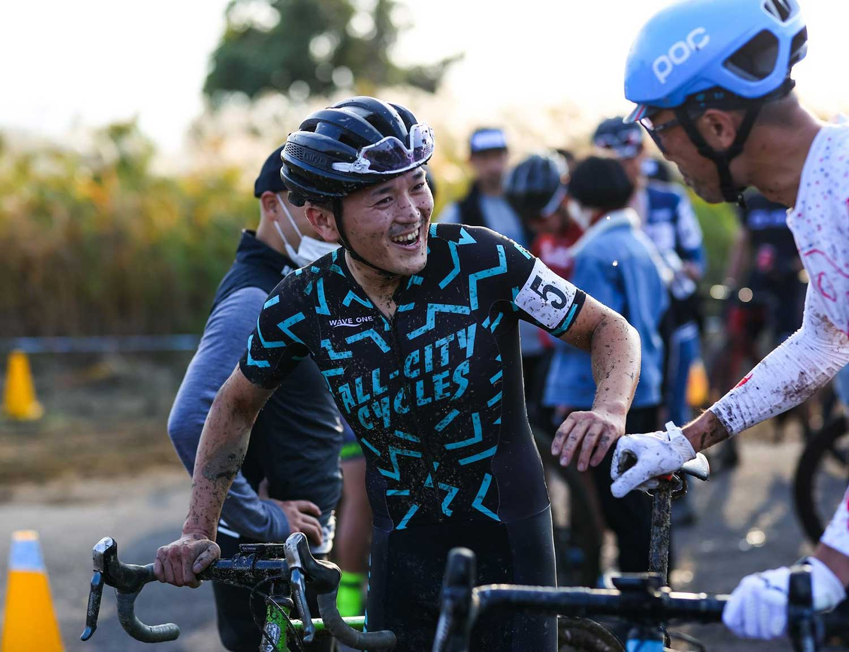 Koshi racing his cyclocross bike