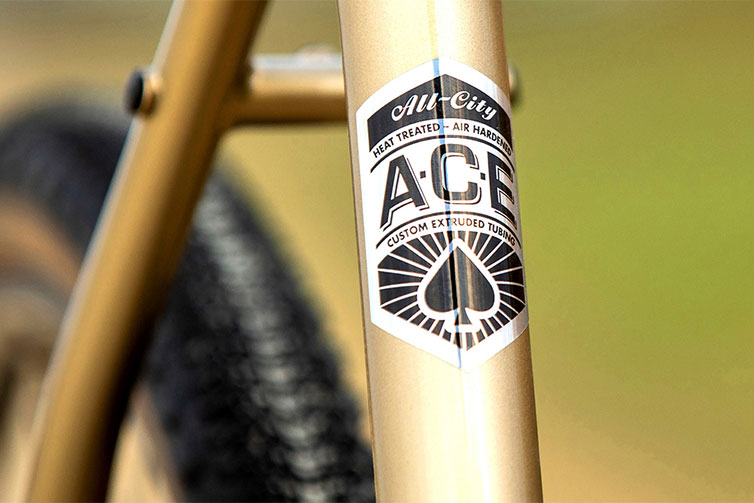 A.C.E. Tubing decal on seat tube