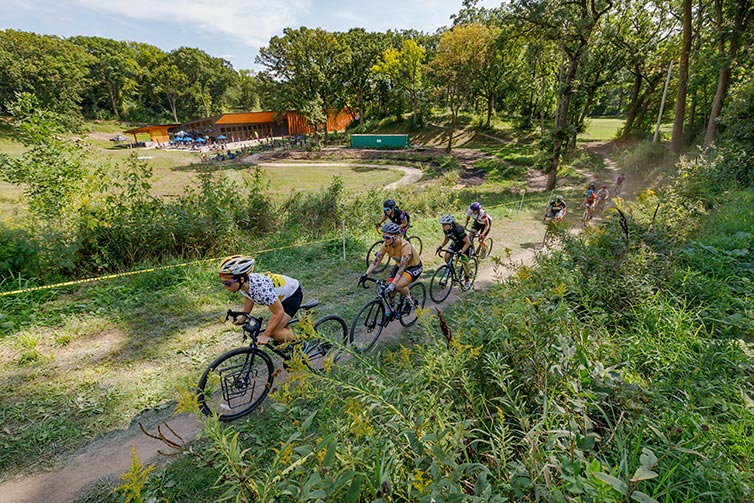 Riders in All-City Intercontinental Cyclocross Race
