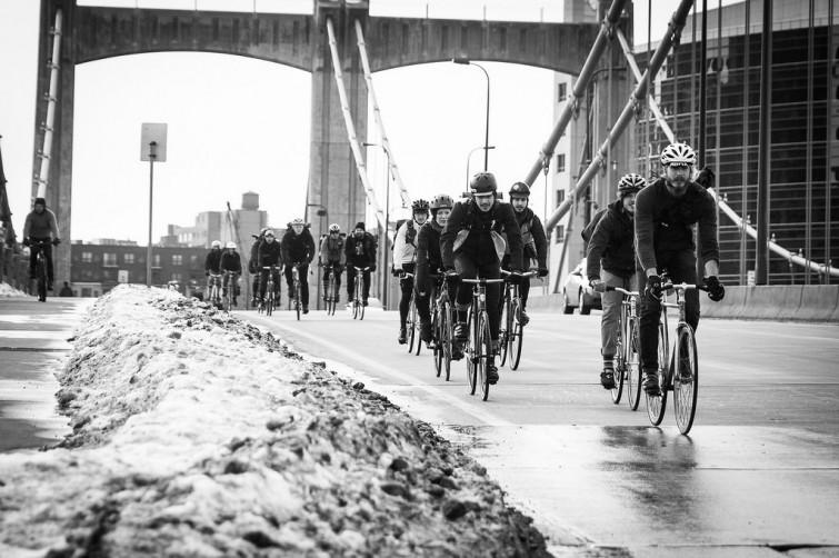 Black and White Bike Race