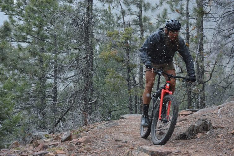 Red All City Bike on Trail