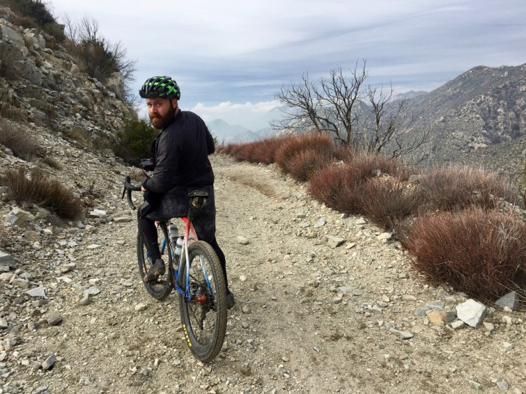 All City Rider on Gravel Trail in SoCal