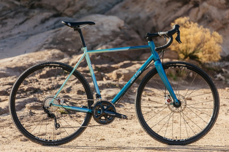 A new Cosmic Stallion bicycle on gravel