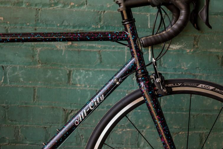 A black bike frame
