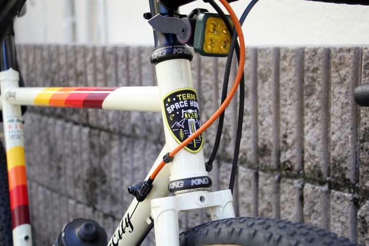A close up of All City Bicycle