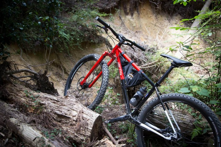 Red All City Bike in Woods