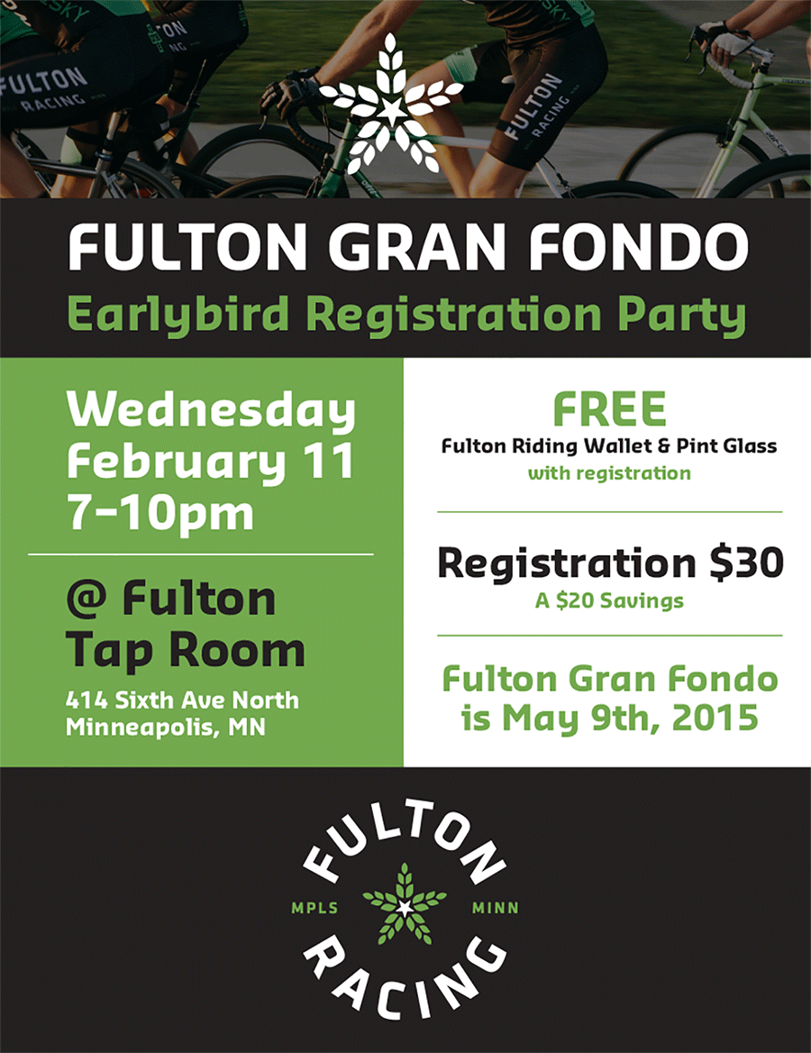 Fulton Gran Fondo Earlybird Registration Party