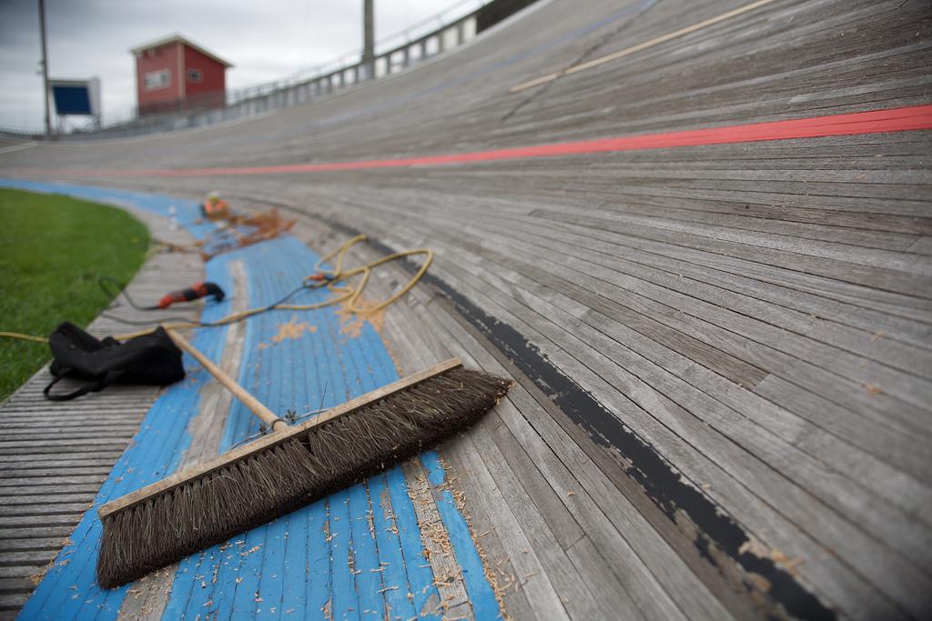 NSC Velodrome Track Repair Photos