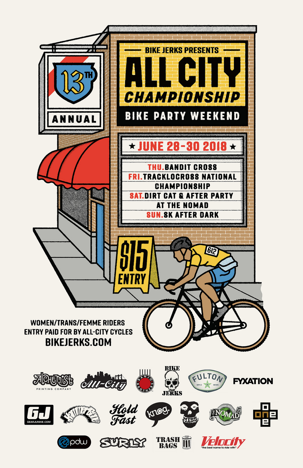 2018 All City Championships - W/T/F Riders Receive Free Entry