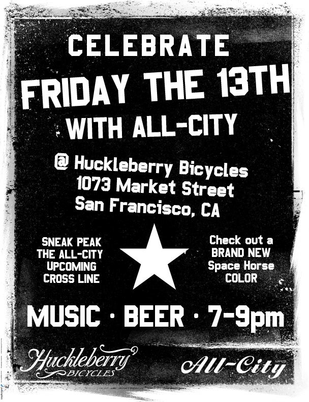 Hey San Francisco! Come to Huckleberry on Friday