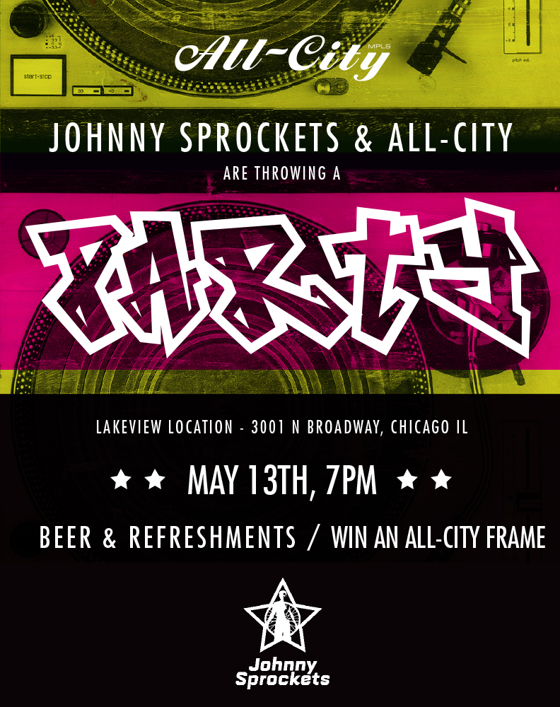 Come Join Us at Johnny Sprockets May 13th