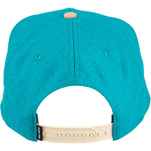Blue and tan Chome Dome 3.0 hat on white background back view, 4 of 4