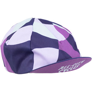 All-City purple and white Dot Game hat on white background front view, 2 of 5