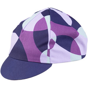 All-City purple and white Dot Game hat on white background side view, 3 of 5