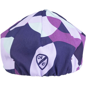 All-City purple and white Dot Game hat on white background back view, 5 of 5