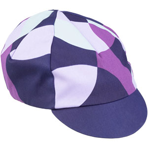 All-City purple and white Dot Game hat on white background front view