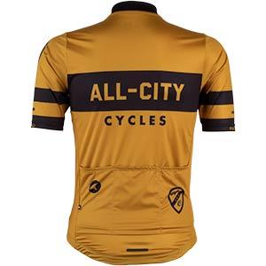 Men's All-City Classic Logowear Jersey, rear view, mustard brown, 2 of 4