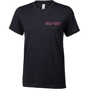 Men's All-City Nigh Claw T-Shirt, front, black, on white background