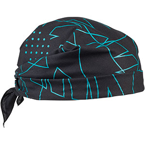 All-City Night Claw Bandana folded and tied to be worn as head covering, 2 of 2