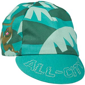 All-City Night Claw Cycling Cap, front view on white background