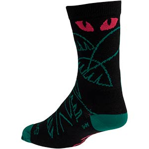 All-City Night Claw Wool Socks, three-quarter rear view on white background, 2 of 2