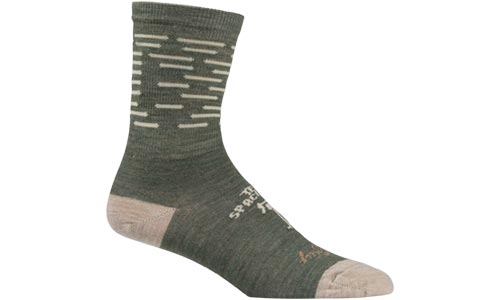 Army green and tan All-City team space horse socks on white background