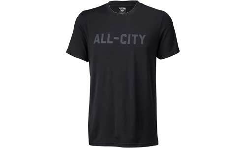 Black All-City Cycles Travel Wool Shirt on white background
