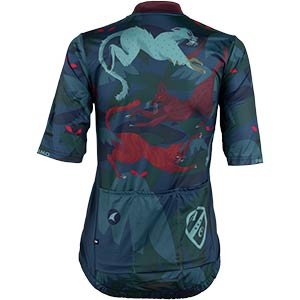 Women's All-City Night Claw Jersey, rear view, 4 of 4