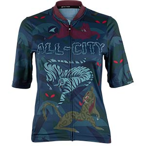 Women's All-City Night Claw Jersey, front view, 3 of 4