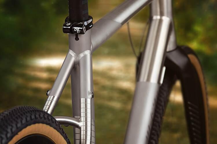Cosmic Stallion Titanium seatstay detail on custom built bike