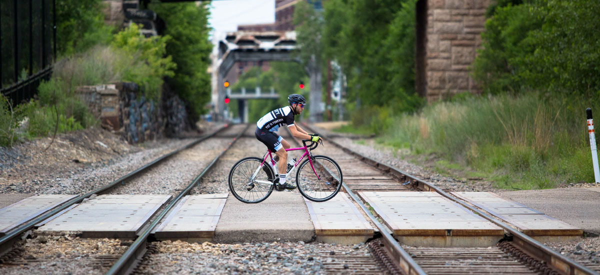 pink train tracks